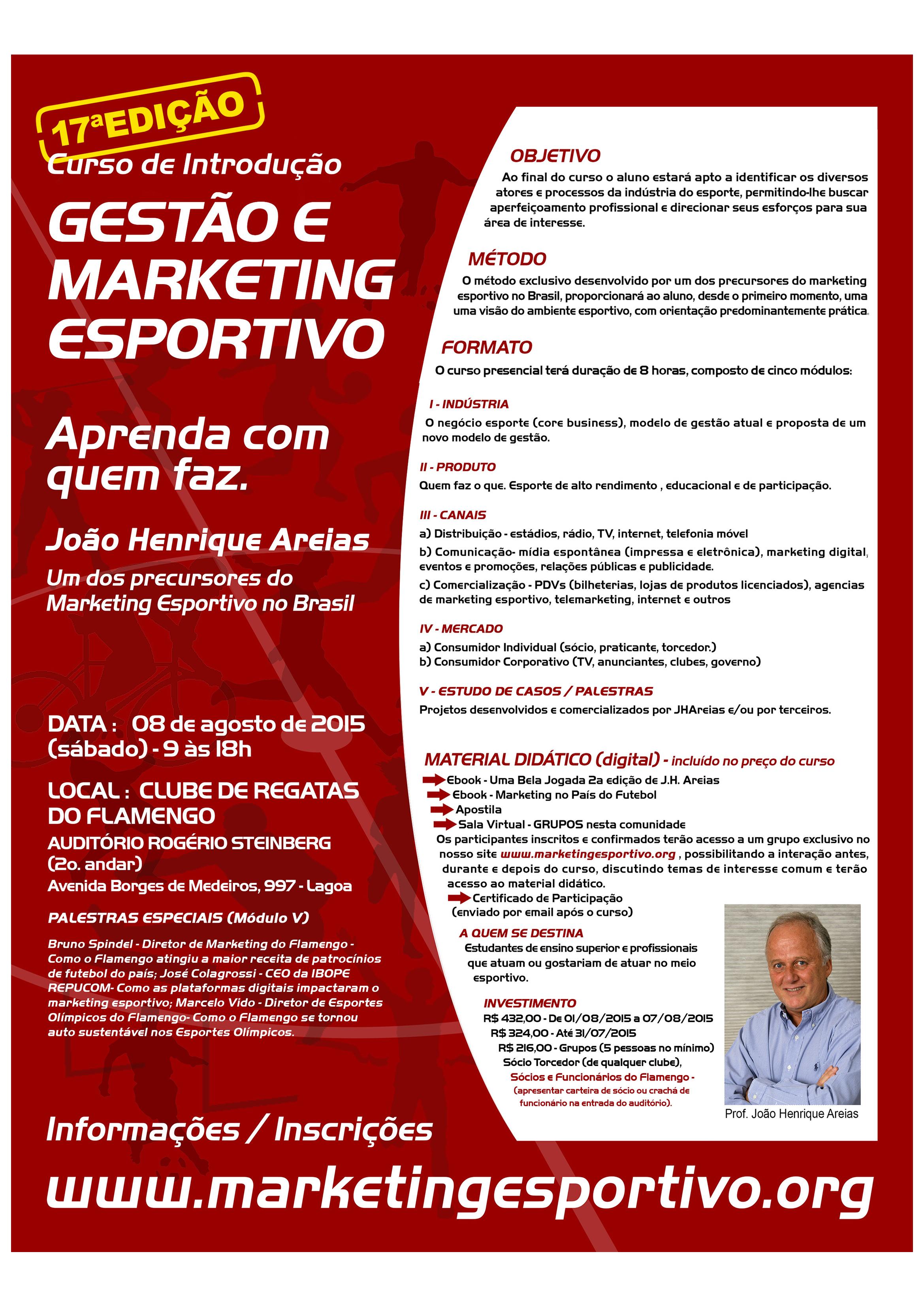 fb2ea123a4 Curso Gestão de Marketing Esportivo – com Mestre JOÃO HENRIQUE AREIAS